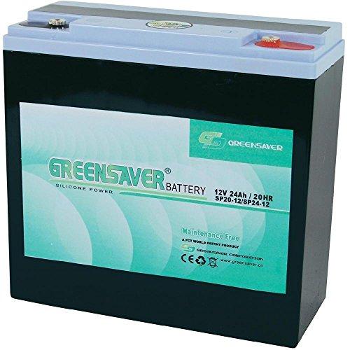Batterie silicone-plomb 12V 24Ah Greensaver SP24-12, SP20-12