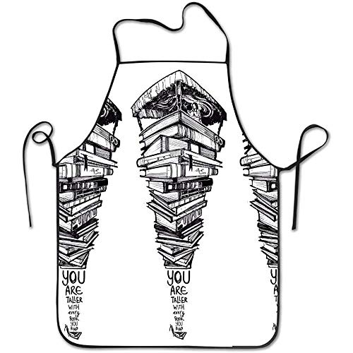HTETRERW Funny Apron Abstract City Raining Night Cooking Baking BBQ Aprons for Women Men (Womens City Kostüme Party)