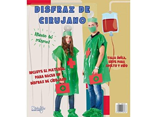 Niefenver 1500105 - Disfraz Bolsa Plástico Cirujano Niefenver