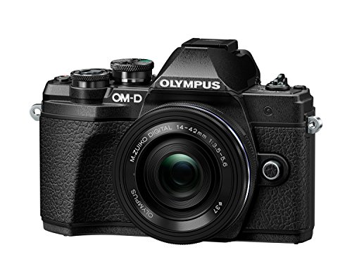 Olympus OM-D E-M10 Mark III Systemkamera (16 Megapixel, 5-Achsen VCM Bildstabilisator, elektronischer Sucher mit 2,36 Mio. OLED, 4k Video, WLAN) Kit silber inkl. 14-42mm Objektiv silber + M.Zuiko Digital ED 40-150 mm Objektiv schwarz - 2