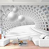 Fototapete 3D - Kugel Weiß 352 x 250 cm Vlies Wand Tapete Wohnzimmer Schlafzimmer Büro Flur Dekoration Wandbilder XXL Moderne Wanddeko - 100% MADE IN GERMANY - Runa Tapeten 9223011c