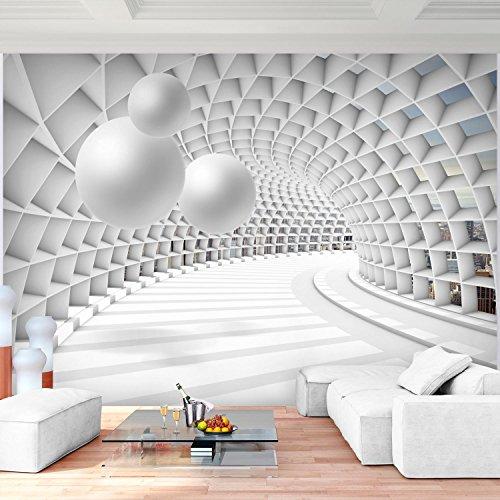 Fototapete Architektur 3D - Kugel Weiß Vlies Wand Tapete Wohnzimmer ...
