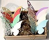 ElecMotive 80 Stück in 8 Farbe 3D Schmetterlinge Wandtattoos Wandsticker