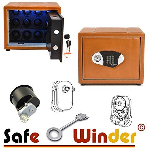Safewinder® 12 DELUXE TAN Uhrenbeweger & Safe - 6