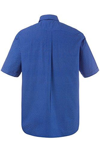 JP 1880 Herren große Größen | Hemd | feines Allover-Muster | Kentkragen | 1/2-Arm | schmal geschnitten | bis Größe 7XL | 708332 Kornblume