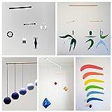 Set of 5 Montessori inspired mobiles - Black and white mobile, Blue Gobbi, Dancers, Octahedron, Rainbow. Montessori mobile. Baby mobile. Hanging mobile. Crib toy.