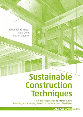 Sustainable Construction Techniques: From structural design to interior fit-out: Assessing and improving the environmental impact of buildings (DETAIL Green Books) por Sebastian El Khouli