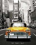 empireposter - New York - Taxi No. 1 - Größe (cm), ca. 40x50 - Mini-Poster, NEU -