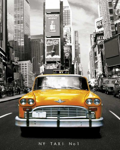Empire Mini-poster New York Taxi No. 1 avec accessoire de suspension multicolore