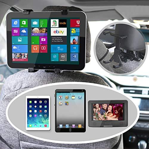 Auto Kopfstützenhalterung, bedee Tablet Halterung Verstellbare KFZ Kopfstütze Halter mit 360 Grad Drehung, Universal für Tragbare DVD-Player, Apple iPad Mini/iPad Air 2 /iPad Air/iPad 4/iPad 3/ iPad 2 iPad Pro, Samsung Galaxy Tab, Kindle Fire, 7-12 Zoll Tablets - 2
