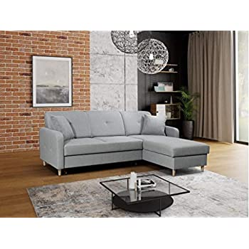 Modernistisk Gama Mobler Right Corner Pull Out Sofa Bed Malmo with Storage LG77