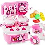 Etbotu 2 in 1 Küche Geschirr Spielset Tragbare Spielhaus Spielzeug für Kinder Kochen Pretend Play