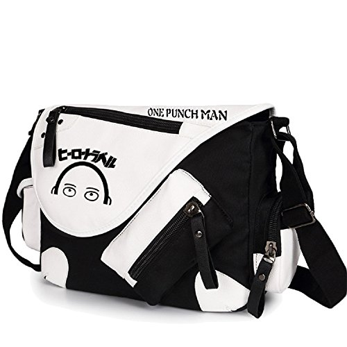 Siawasey anime giapponese Cosplay borsa Satchel zaino messenger bag borsa a tracolla nero One-Punch Man2 One-Punch Man1