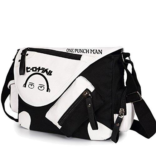 Siawasey anime giapponese Cosplay borsa Satchel zaino messenger bag borsa a tracolla nero One-Punch Man2 One-Punch Man1