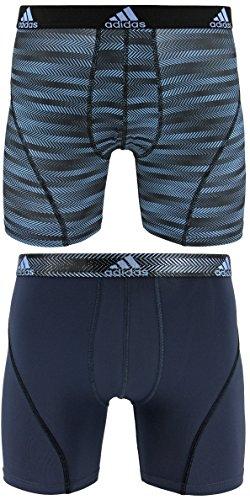 adidas Herren Sport Performance Climalite Boxer Brief Underwear (2Pack), Herren, Blue Ratio Urban Sky Ratio -