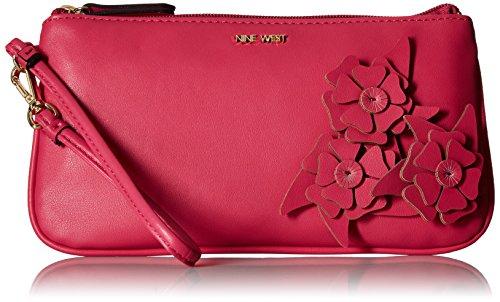 Nine West- - E/W, Handgelenktasche Damen, Pink (Electric Fuchsia), Einheitsgröße - West-clutch-handtasche
