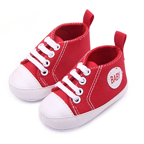 Etosell Nouveau-Ne Garcon Fille Sneaker 0-12mois A79 Rouge