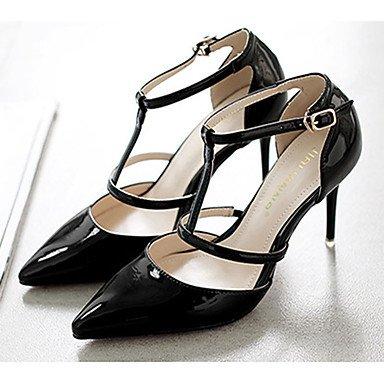 Moda Donna Sandali Sexy donna caduta tacchi Comfort brevetto Casual in pelle Stiletto Heel fibbia Nero / Giallo / rosa / rosso / grigio altri gray
