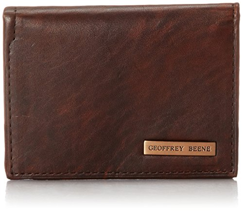 geoffrey-beene-mens-gussetted-cardcase-with-polished-plaque-logo-gravel-brn-champaign-one-size