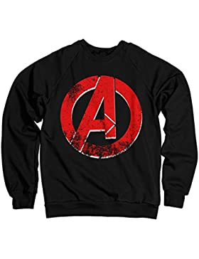 Licenza Ufficiale The Avengers Distressed A Logo Felpa (Nera)