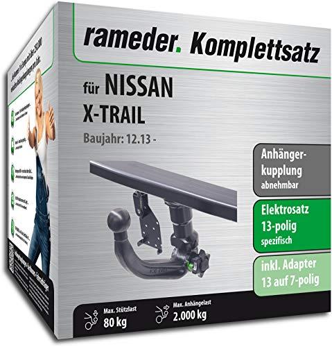 Rameder Komplettsatz, Anhängerkupplung abnehmbar + 13pol Elektrik für Nissan X-Trail (121938-12857-1)