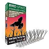 Aspectek Taubenspikes- Spikes zur Vogelabwehr - wetterfeste Taubenspikes und Vogelspikes - Polycarbonat oder Edelstahl (HR4132)