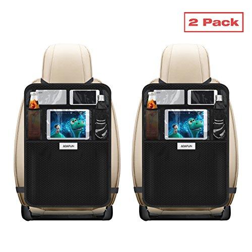 Preisvergleich Produktbild Aoafun Kick-Pads mit Multi-Pocket-Organizer, 2er-Pack, Sitzrück Abdeckungen für PKW, SUV, Minivan oder LKW-Sitze, Auto-Zubehör und Schutz für Kinder