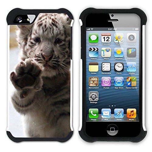 Graphic4You Baby Cats Love Tier Design Hart + Weiche Kratzfeste Hülle Case Schale Tasche Schutzhülle für Apple iPhone SE / 5 / 5S Design #5