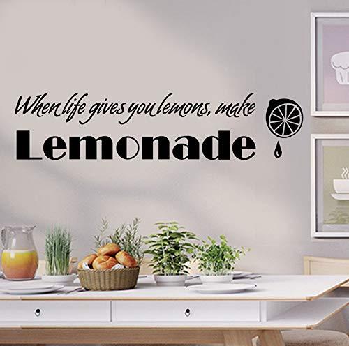 Diy Wandaufkleber Limonade Abnehmbare Wohnzimmer Dekor Waterpoof Wandverkleidung Tapete Für Schlafzimmer Customized Aufkleber 60x14cm