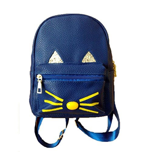 Lovely Cat Zaini,Kword Donne Adolescenti Scuola Borsa Viaggio Laptop Zainetto Blu