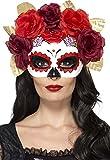 Smiffy 's–44883día de los muertos rose ojo máscara (talla única)