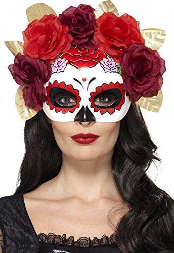 r Toten Rosen Augenmaske, One Size, Rot, 44883 (Pappmaché Halloween-masken)