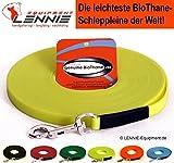 LENNIE Ultraleichte Schleppleine aus 9 mm BioThane, 10 m lang, Neon Gelb, genäht, 1-60 Meter, 7 Farben