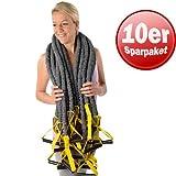 10 x Dittmann Premium Body Tube Fitnessband Gymnastikband Expander leicht/gelb