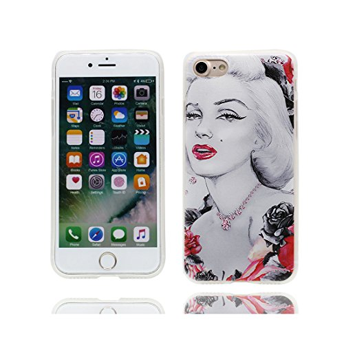 Custodia iPhone 6, Silicone trasparente iPhone 6S Case iPhone 6s copertura Cover 4.7 Shell Graffi Resistenti ( Audrey Hull Ben ) Color - 1