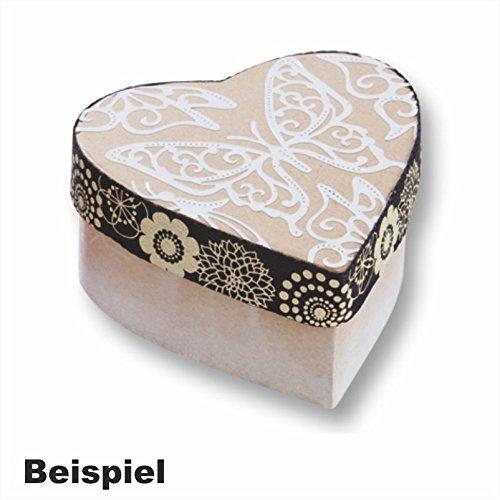 Creleo 790261 Papp-Boxen Herz Bastelboxen mit Deckel, 10 Stück, 8 x 7,5 x 4 cm
