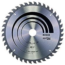 Bosch Professional 2608640443 Optiline Wood Circular Saw Blade, Silver