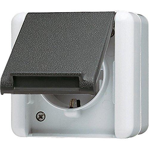 Preisvergleich Produktbild Jung 820 W AP-Steckdose IP44 WG800 bruchsicher
