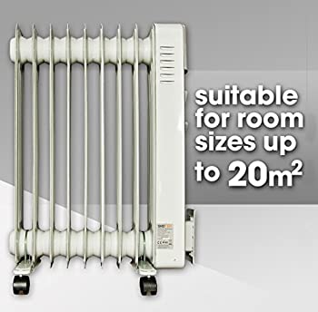 Skotek 2000w Electric Oil Filled Radiator Heater With 3 Power Settings, Adjustable Thermostat, Thermal & Tip Over Cut-out Switch 2
