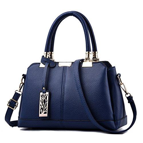 Ruiren Multifunktions Travel Shopping Soft Tasche Portable Schultertasche Frauen Messenger Bags Frauen Handtasche Schultertasche Dunkelblau