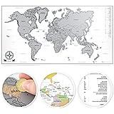beneart® Weltkarte zum Rubbeln - Perfekt als Geschenkidee - Rubbelweltkarte Poster XL - scratch the world map