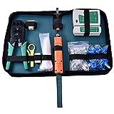 Cathy02Marshall 9 In 1 Netzwerk Repair Tools Sets Profi Netzwerk Repair Kits Netzwerk Crimpzange Kit Computer Wartung LAN Kabel Tester Crimper Abisolierzange Kristall Anschlüsse Reparatur