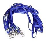 Febbya Schlüsselband,Schlüsselanhänger 30 Pack Lanyard 10mm mit Karabinerhaken für Kartenhuellen Ausweise Kinder EC Kartenhüllen Handy Autoschlüssel Blau 85cm