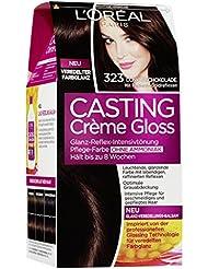L'Oréal Paris Casting Creme Gloss Glossy Blacks Pflege-Haarfarbe, 323 Dunkle Schokolade
