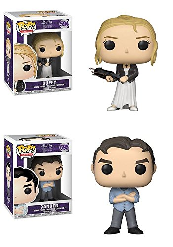 Funko POP Buffy The Vampire Slayer 20th Anniversary Buffy Xander Vinyl Figure Set NEW
