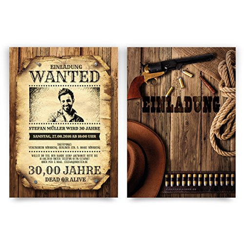 Stück) zum Geburtstag als Wanted Kopfgeld Poster ()