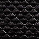 Fabulous Fabrics Steppstoff Samt – schwarz — Meterware