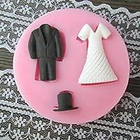 FPP Abbigliamento Bake muffa della torta del fondente, L7cm * W7cm * H1cm