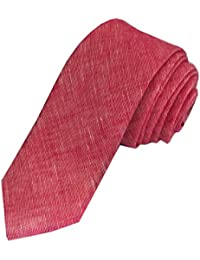 TED BAKER London Mens 100% Linen Slim Skinny Neck Tie Necktie Pink