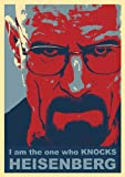 great-art Red Blue Poster Breaking Bad I am the one who knocks Heisenberg - 85 x 60cm Wandposter Walter White Bryan Cranston Wandbild